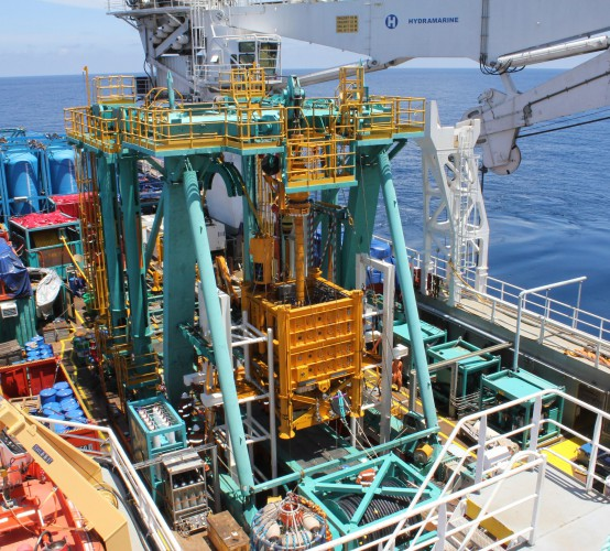 Sea fastening of subsea intervention frame and associated equipment on Normand Clough