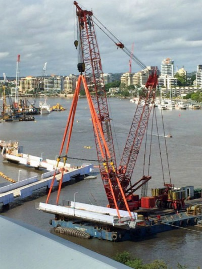 Analysis helps in the rebuilding of Brisbane's Riverwalk