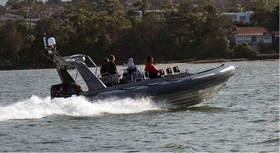 Britton and IMC deliver RAN diesel outboard powered support boats